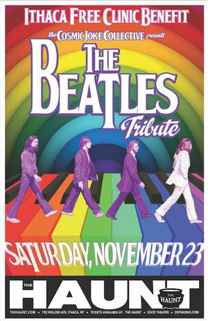 Ithaca Free Clinic's benefit will feature a Beatles tribute.