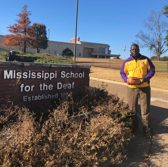 Arness Georgetown is the head football coach at the Mississippi School for the Deaf.