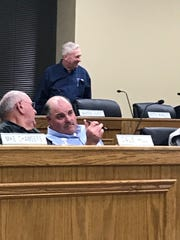 Sevier County Commissioner Warren Hurst arrives at a Nov. 18, 2019, meeting a month after his homophobic, racist rant spurred internet outrage.