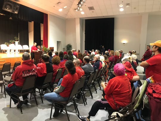 A Sevier County Commission meeting overflowed with protesters and those speaking in support of Warren Hurst, whose anti-LGBTQ slur drew national attention.
