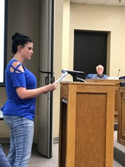 Amy Williams speaks at a Sevier County Commission meeting on Nov. 18, 2019.