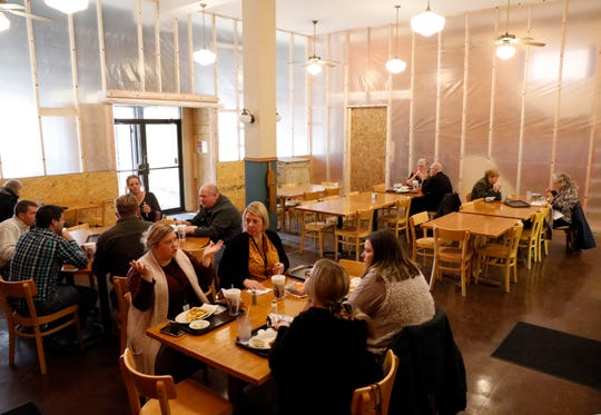 Renovations haven't stopped customers from eating lunch at Four Reasons Bakery and Deli in downtown Lancaster.