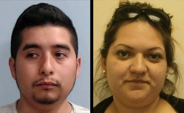 Ciro Macias Martinez (left) led a dual life, working hard in the daytime as a groomer at famed Calumet Farm, home to Triple Crown and Derby winners. At night, prosecutors say he served as CJNG's Kentucky cartel boss. He's now in prison.  Brizeida Janett Sosa (right), Macias' common-law wife, headed up the money laundering arm of the cartel's Kentucky cell. Her crew funneled more than $1 million for CJNG.
