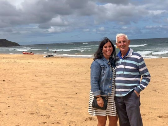Nancy Galloway with her father, Alan Freedman, who is from Australia.  Galloway only just recently found her father using a home DNA kit and a name that her mother shared with her just before her death.