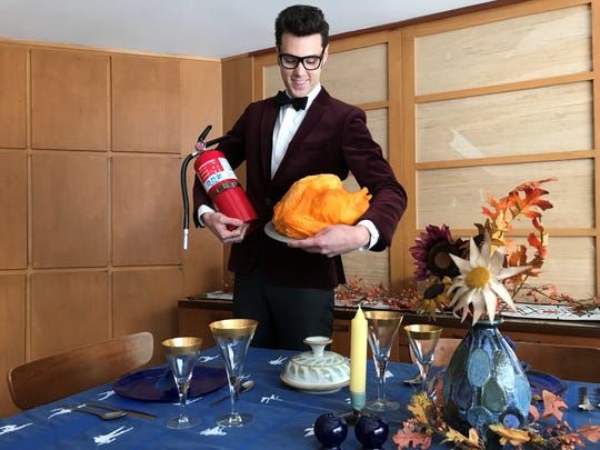 """J. Thomas Kelly"" with his perfect ""recipe"" for a Thanksgiving disaster."