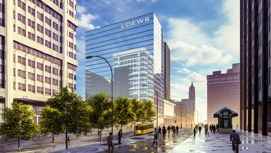Newly released renderings of the proposed Loews Hotel in Downtown Memphis