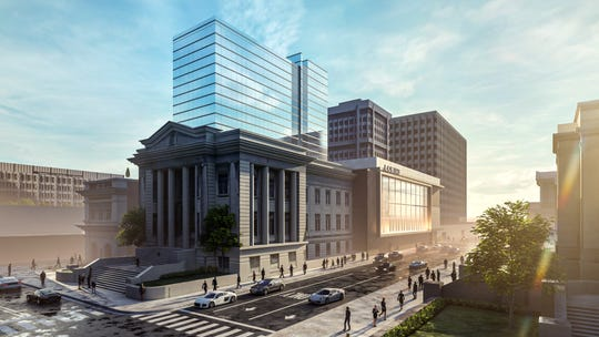 A rendering shows what the new Loews Hotel will look like in Downtown Memphis.