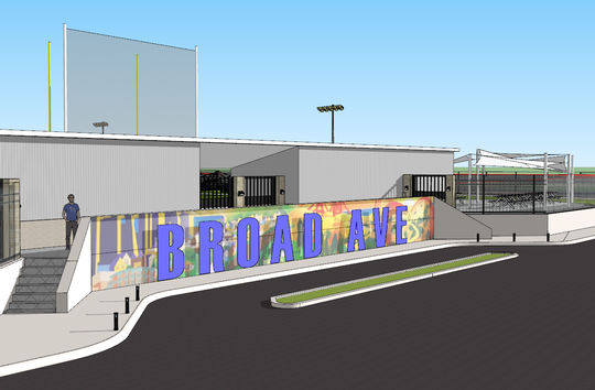 Rendering of the $600,000 sports complex planned for Broad Avenue in Binghampton.