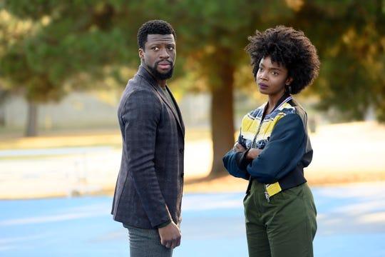 """Ave Maria"" Episode 109: Michael Luwoye as Anthony Little, MaameYaa Boafo as Briana Johnson"