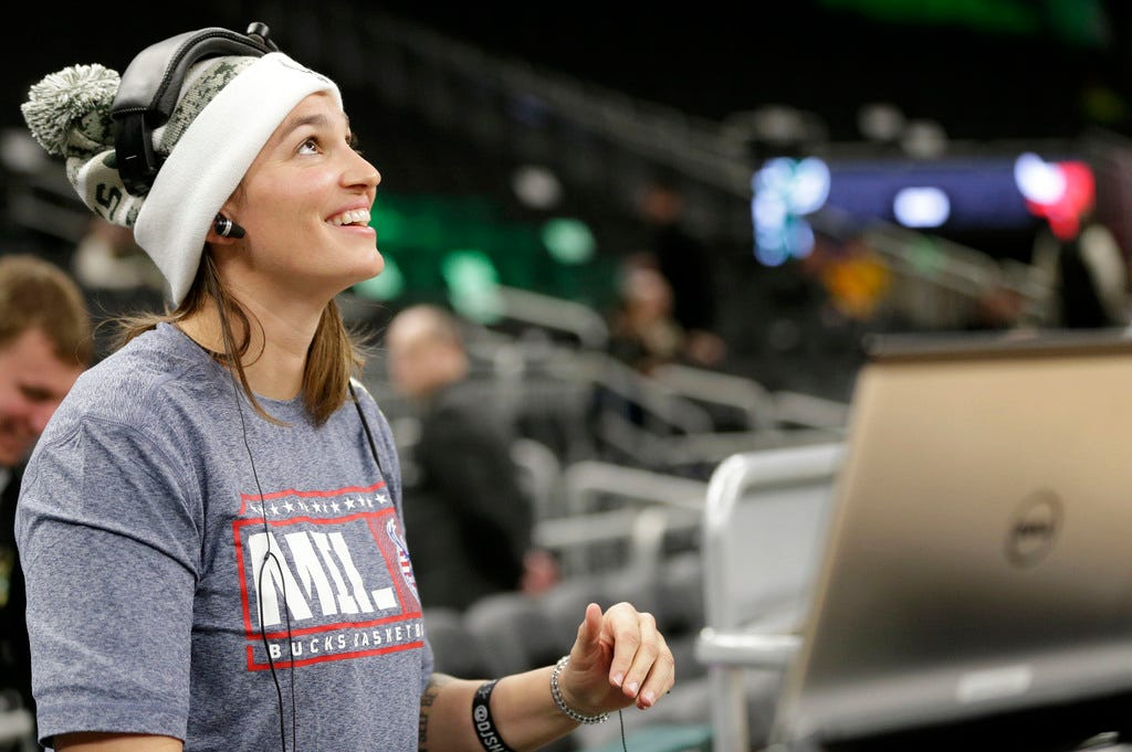 During the coronavirus pandemic, DJ Shawna is working on her skills and hoping for a return that includes a Milwaukee Bucks championship.