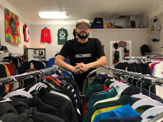 Ali Acevedo stands in his new store All Goods, located at 1411 S. 72nd St. in West Allis.