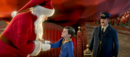 "Robert Zemeckis' 2004 movie ""The Polar Express"" stars Tom Hanks as the conductor, Santa Claus and four other characters."
