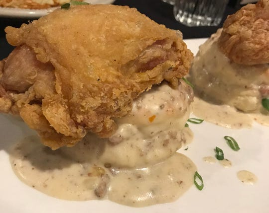 At Crawdaddy's on Greenfield, 9427 W. Greenfield Ave., West Allis, brunch takes a Southern tack. One of the entrees is a quarter chicken fried and served over buttermilk biscuits with sausage gravy.