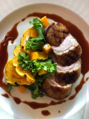 Duck breast makes for an elegant Thanksgiving entree for two.