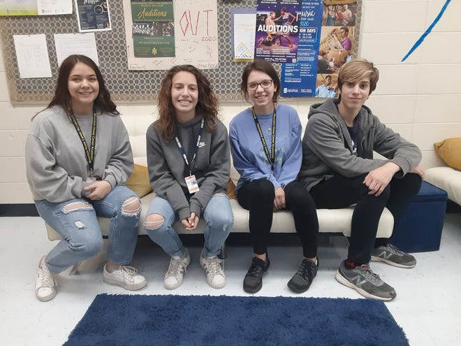Four choir singers from Mountain Home High School were recently selected for the Southwestern Region: American Choral Directors Association Honor Choir. Over 1,100 students from seven states submitted audition recordings for a chance to sing with one of four honor choirs. Selected were: (from left) Taylor Basford, Emma Scott, Ella McCurley and Cayden Sabella. These students will travel to Little Rock in March and work with internationally renowned directors in preparation for a large performance.