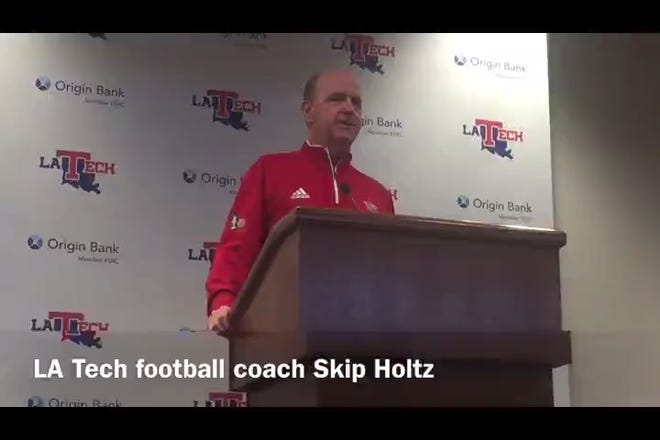 Louisiana Tech head football coach Skip Holtz breaks down freshman quarterback Aaron Allen's first career start at Marshall.