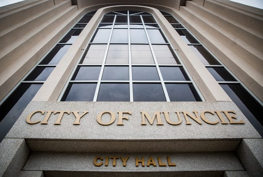 The exterior of City Hall in downtown Muncie Tuesday.