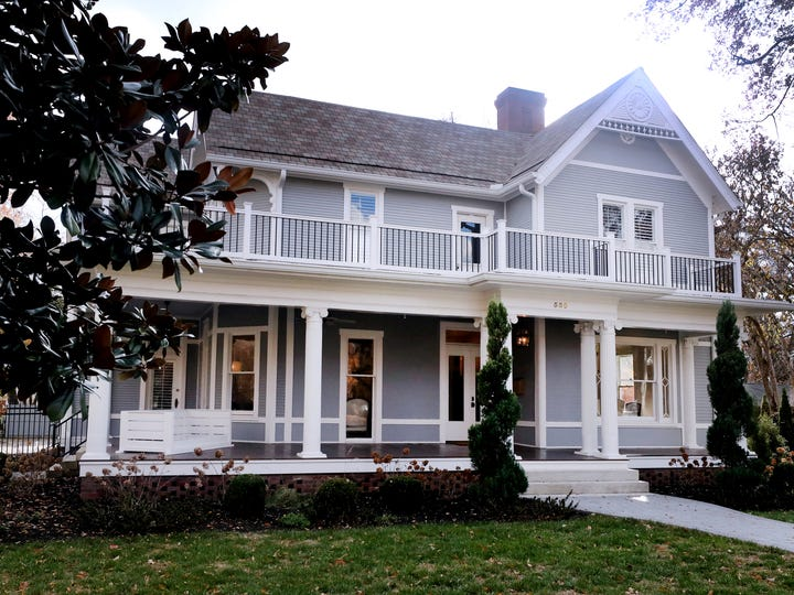 The home of Ken Stone on Tuesday, Nov. 19, 2019, on 550 East Main Street in Murfreesboro. Stone's home will be featured in Oaklands 36th Annual Christmas Candlelight Tour of Homes on Dec. 7th from 4 PM-8 PM.