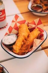 Three-piece Fried Fish Basketat Parson's Chicken and Fish in Wedgewood-Houston.