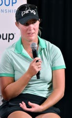 Jennifer Kupcho during a interview session during the 2019 CME Group Tour Championship Pro-Am at the Tiburón Golf Club in Naples on Tuesday.