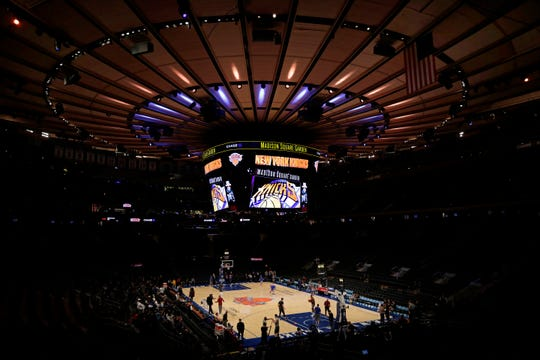 A general view of Madison Square Garden is seen prior to the Cleveland Cavaliers taking on the New York Knicks.
