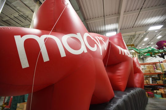 Macy's star balloons are seen at Macys Parade Studio in Moonachie on 11/19/19.
