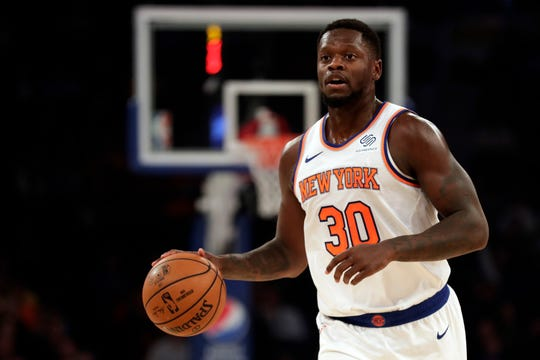 New York Knicks forward Julius Randle (30) in action against the Cleveland Cavaliers during the first half at Madison Square Garden.