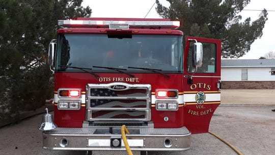 An Otis Volunteer Fire Department unit at a Nov. 12 structure south of Carlsbad. The Riverside Volunteer Fire Department near Artesia is set to get a new brush truck in late 2020.