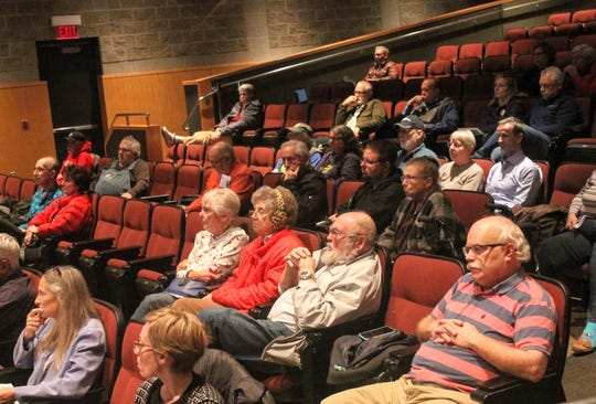 About 50 people attended an informational meeting put on by Save Hines Park Monday at Schoolcraft College in Livonia.