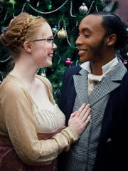 Cast members Autumn Bryson, right, and D.J. Terry.