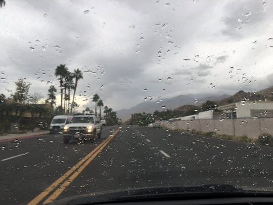 Rain began falling in Palm Springs shortly after 3 p.m. on Tuesday, Nov. 19, 2019. The forecast called for light rainfall possibly into Thursday.