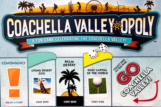 Coachella Valley-opoly is a board game that focusses on landmarks and well-known parts of the Coachella Valley.
