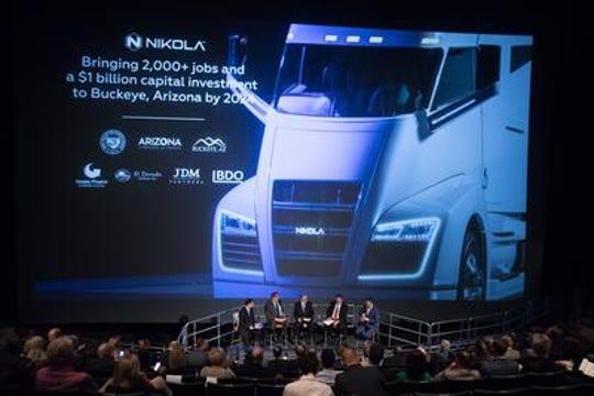 Phoenix-based Nikola will break ground next year on a truck-manufacturing plant in central Arizona.
