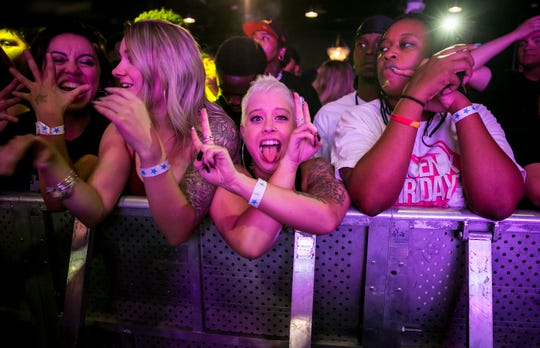 The main stage crowd has lots of energy at the sixth annual Arizona Hip-Hop Festival at The Pressroom on Saturday, Nov. 16, 2019.