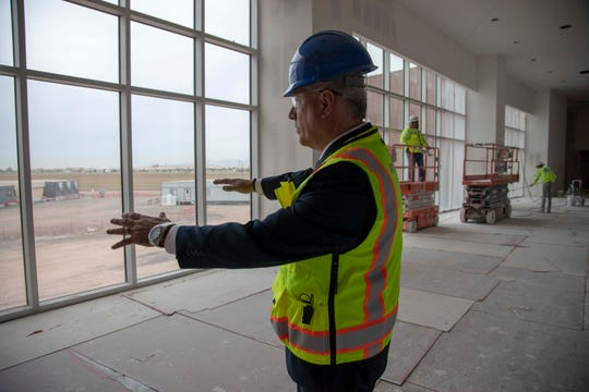 Don Ayers, general manager of Desert Diamond West Valley Casino, gives a first look at inside the casino near Glendale on Nov 19, 2019.