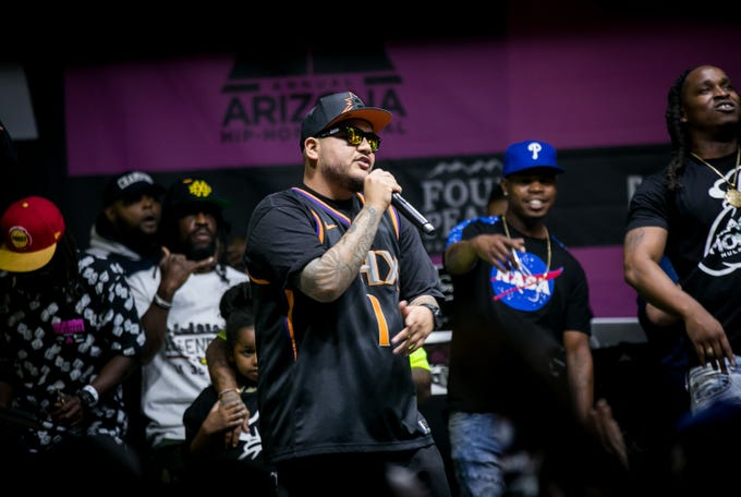 Lots of Phoenix love during the sixth annual Arizona Hip-Hop Festival at The Pressroom on Saturday, Nov. 16, 2019.