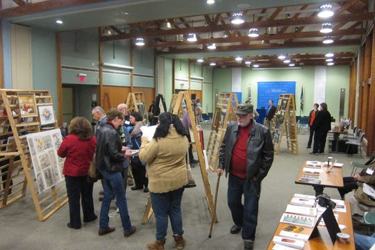 Visitors are shown during a past Veteran Arts Showcase. The annual event will be held Nov. 22-24 at the Franklin D. Roosevelt Presidential Library and Museum in Hyde Park.