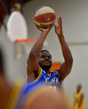 Former York High star Kelvin Parker, seen here in a file photo, had 29 points on Saturday for the York Buccaneers in a win vs. Hub City.
