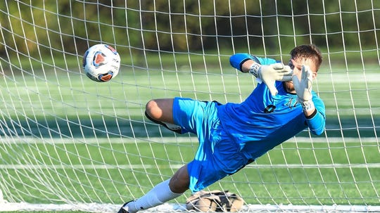 West York High School graduate Darian McCauley is a four-year starting goalkeeper at Millersville University.