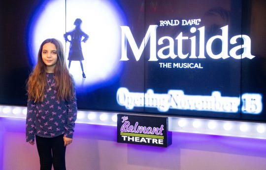 10-year-old Jayda Segal is the leading lady in the Belmont Theater's Matilda: The Musical, November 14, 2019.