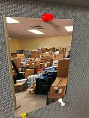 It took nearly 400 boxes to move the Wayne County Genealogical Society's records from the former St. John Lutheran Church building to First Friends Meeting.