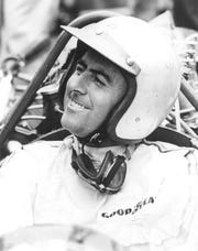 Australian Jack Brabham raced in the 1966 United States Grand Prix at Watkins Glen in his personally designed Brabham Formula 1 powered by a Repco Engine.
