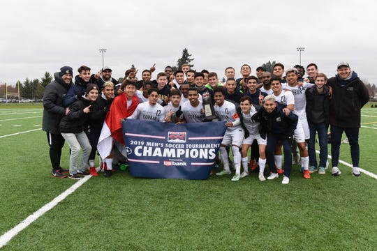 Corban defeated Eastern Oregon 2-1 to win the CCC Tournament Championship.