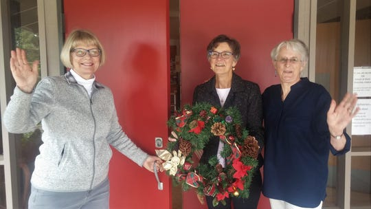 Barbara Ross, Linda Berhorst and Nancy Mortenson welcome the public to shop at the Prince of Peace Episcopal Church Holiday Craft Fair Nov. 22-23.