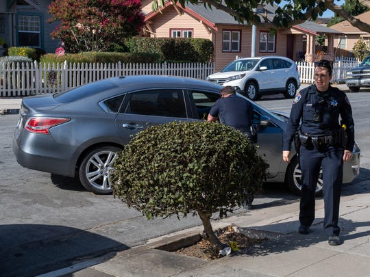 Salinas Police investigate an attack reported Nov. 19, 2019, on Clay Street in Salinas.