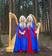 "The Harp Twins, Camille and Kennerly Kitt, will perform at the Plymouth Arts Center's ""Celtic Christmas"" this weekend."