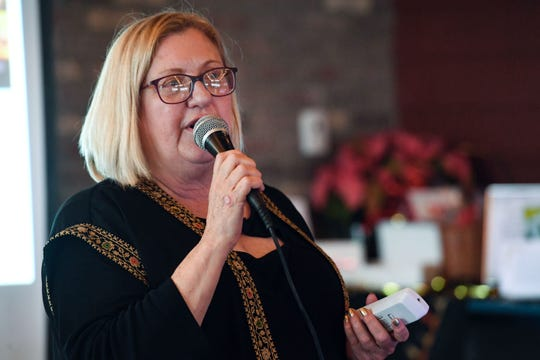 Christy Reiner hosts a fundraiser for In His Steps, a nonprofit aimed at providing breast cancer treatment and support to people living in the Holy Land, on Sunday, Nov. 17, at the Barrel House in Sioux Falls.