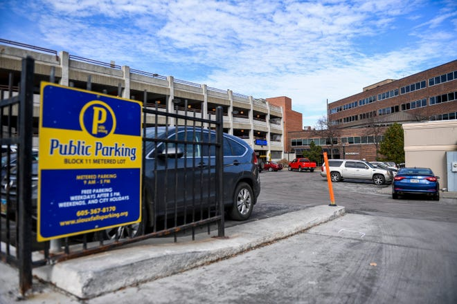 A public parking lot is seen near Phillips Avenue on Saturday, Nov. 16, 2019 in downtown Sioux Falls.