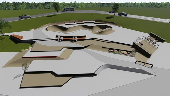 Professional skateboarder and skatepark designer Kanten Russell is the designer behind the planned skatepark the Sioux Falls Skatepark Association is fundraising for at Nelson Park.