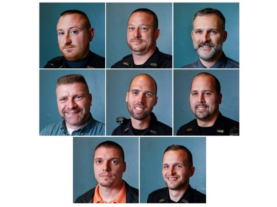 Springfield police officers were allowed to grow out their facial hair during the month of November.